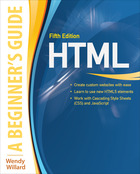 HTML: A Beginner's Guide, Fifth Edition