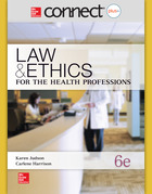 Connect 1-Semester Online Access for Law and Ethics for the Health Professions