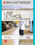 SmartBook Online Access for Law & Ethics for the Health Professions, 6e, 2013©
