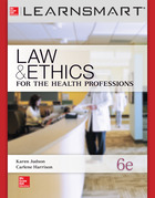 LearnSmart Standalone Online Access for Law & Ethics for the Health Professions, 6e, 2013©