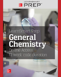 LearnSmart Prep for General Chemistry Online Access, 12 week code duration