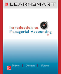 LearnSmart Online Access for Introduction to Managerial Accounting